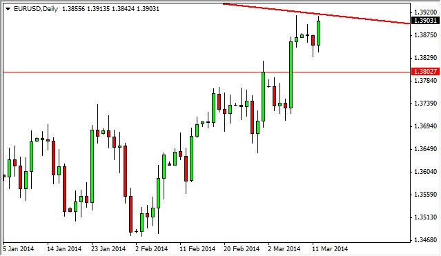 EUR/USD Forecast March 13, 2014, Technical Analysis