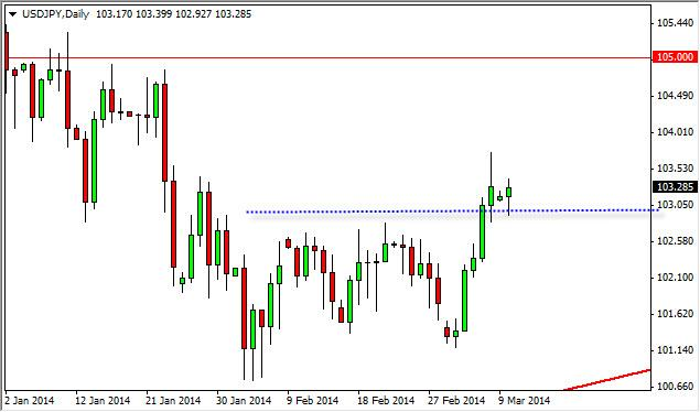 USD/JPY Forecast March 11, 2014, Technical Analysis