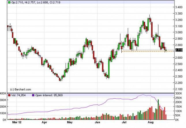 Natural Gas Forecast August 20, 2012, Technical Analysis