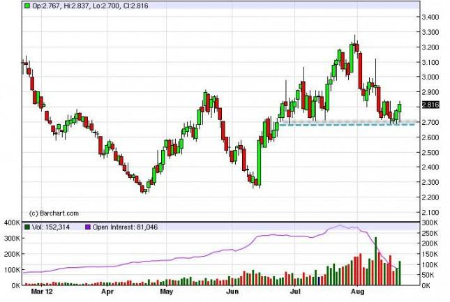 Natural Gas Forecast August 22, 2012, Technical Analysis