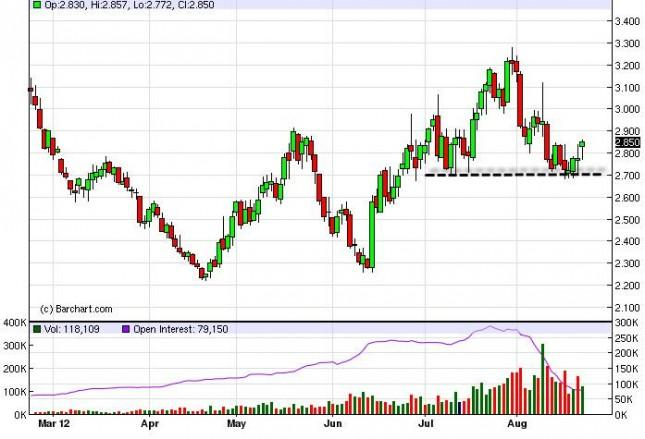 Natural Gas Forecast August 23, 2012, Technical Analysis
