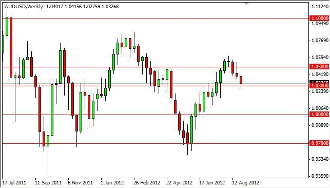AUD/USD Forecast for the week of September 3, 2012, Technical Analysis