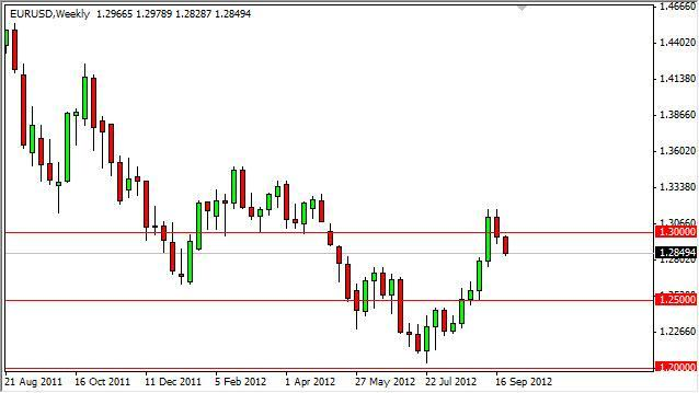 EUR/USD forecast for the week of October 1, 2012, Technical Analysis