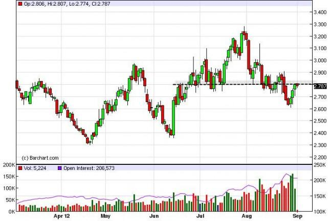 Natural Gas Forecast September 4, 2012, Technical Analysis