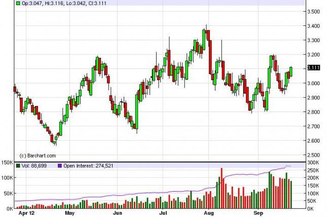Natural Gas Forecast September 26, 2012, Technical Analysis