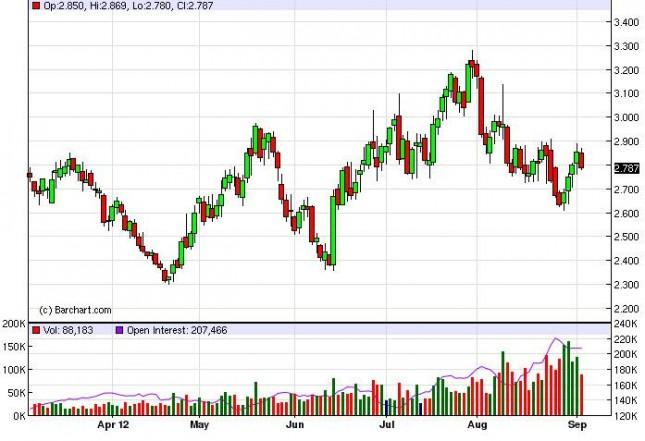 Natural Gas Forecast September 6, 2012, Technical Analysis
