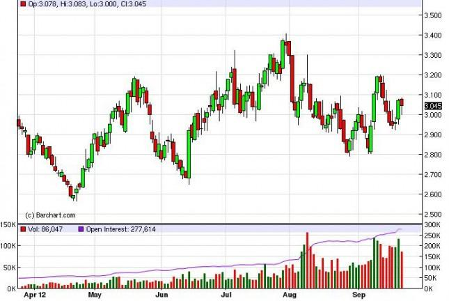Natural Gas Forecast September 25, 2012, Technical Analysis