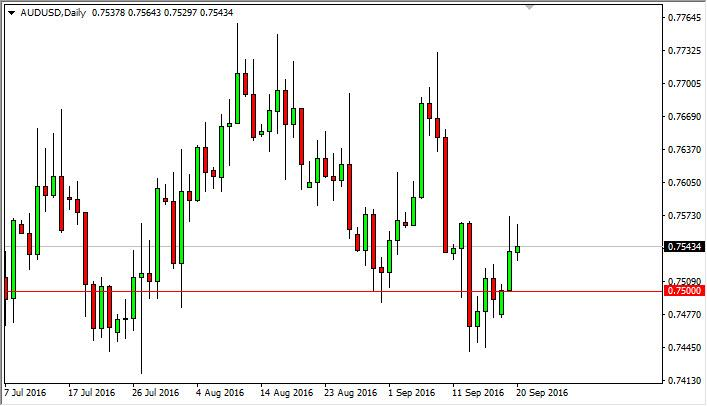 AUD/USD Forecast September 21, 2016, Technical Analysis